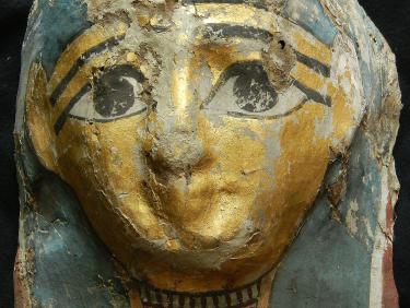 Restaurierte Goldmaske der Mumie des Djed-Hor, Fonds Wissenschaftliches Erbe